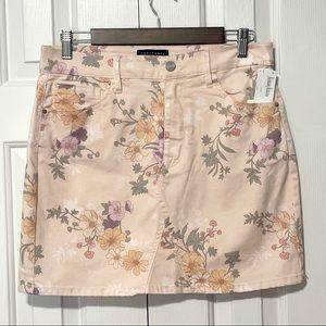 NWT Sanctuary Wash Garden Floral Denim Mini Skirt